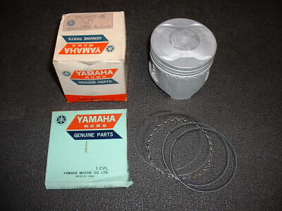 NOS Yamaha XS500 / TX500 Piston and Rings, 371-11637-05, 3rd Oversize