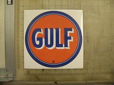 Vintage Gulf Gasoline round sticker decal
