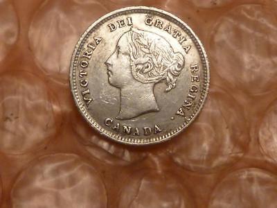 Canada 1891 5 Cents Silver Higher Grade #A1