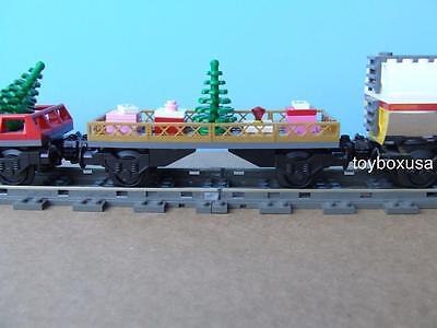 Custom Lego Christmas Holiday Train Car Built w/ NEW Bricks fits 10173 10254 Set