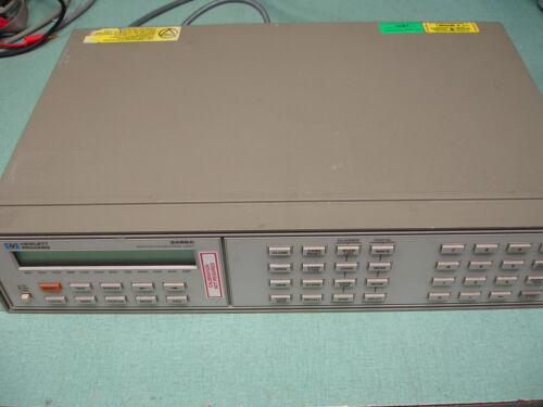 HP Agilent Keysight 3488A Switch/Control W/ 44470A & 44471A x2 Modules
