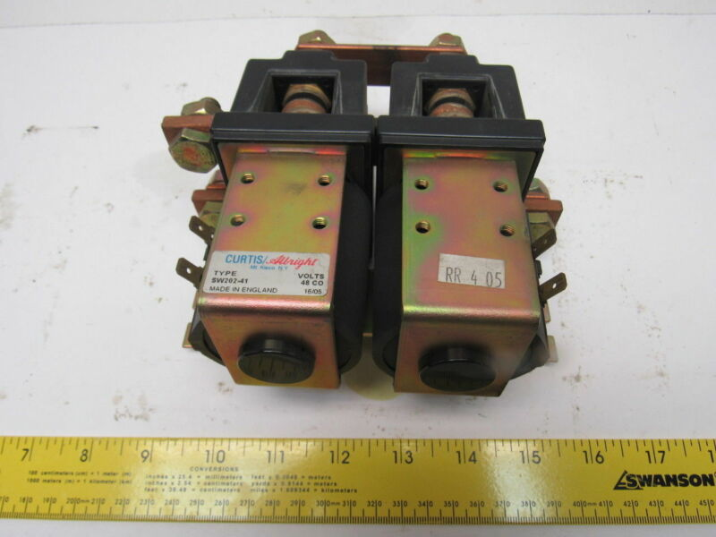 Curtis/Albright SW202-41 Electric Vehicle DC Contactor Motor Reversing 48 V