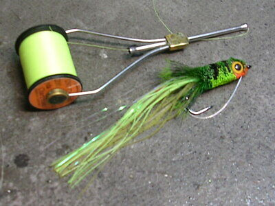 TROUT BASS TOP WATER SKATING FOR STEELHEAD OLIVE SALMON BABINE FOAMBACK FLY