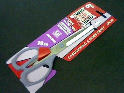 "JANOME SCISSORS 8""-20cm CARDMAKING-PAPER CRAFT-ALL PURPOSE -WORLD RENOWN-XPC08"