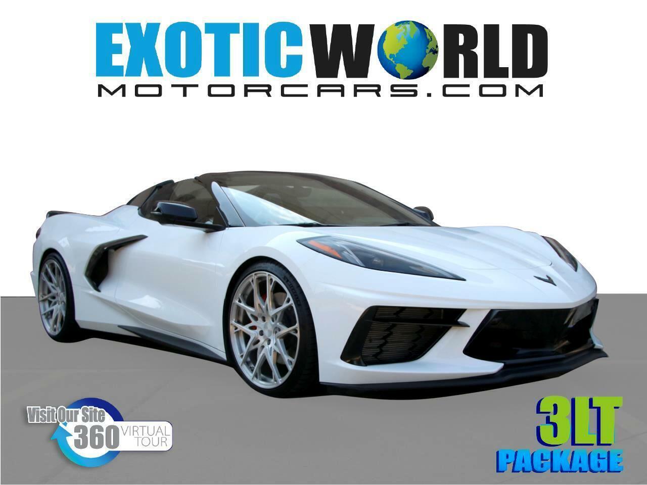 2021 White Chevrolet Corvette Convertible 3LT   C7 Corvette Photo 1