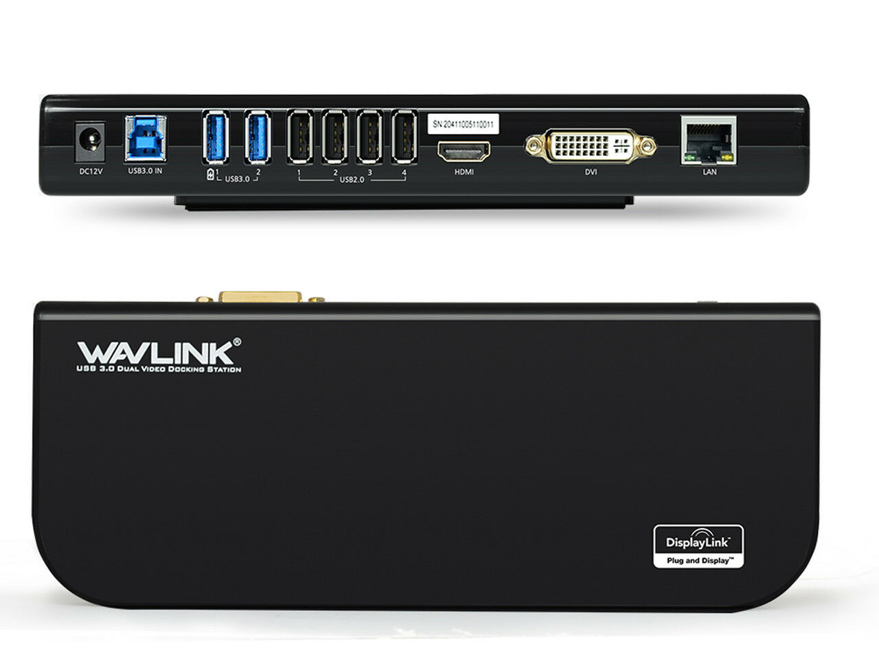 Wavlink USB3.0 Universal Docking Station,Dual Video Monitor