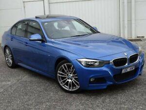 2014 BMW 3 Series F30 MY1114 320i M Sport Blue 8 Speed Sports Automatic Sedan
