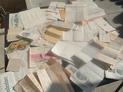 1840-1900's HUGE (100+) Letters,Stamps,Covers,signed documents,Misc.,Paper lot!