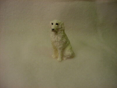 GREAT PYRENEES dog TiNY FIGURINE HAND PAINTED MINIATURE MINI COLLECTIBLE puppy