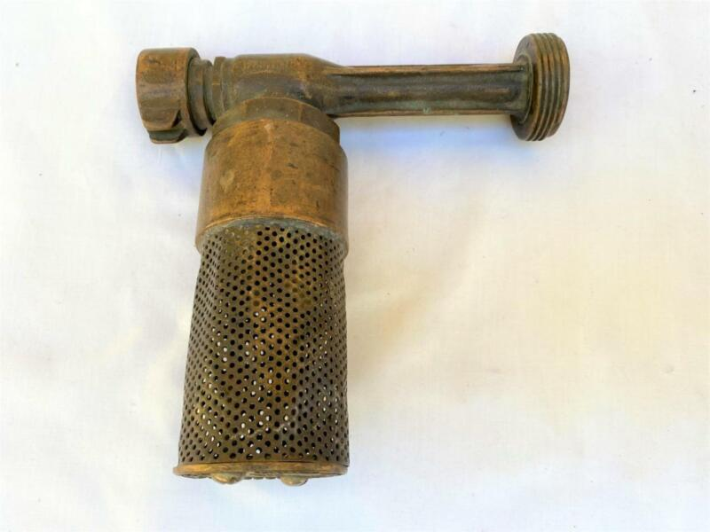 """Vintage Bronze Penberthy USA White Flomatic Fire Nozzle Strainer 1.5"""" to 1"""" NPS"""
