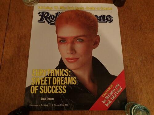 Vintage Promo Poster-EURYTHMICS-1983 Rolling Stone Magazine-ANNIE LENNOX-Excllnt
