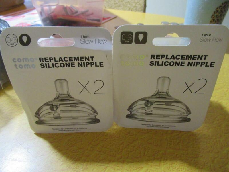 4 Comotomo Silicone Replacement Nipples 0-3 months SEALED