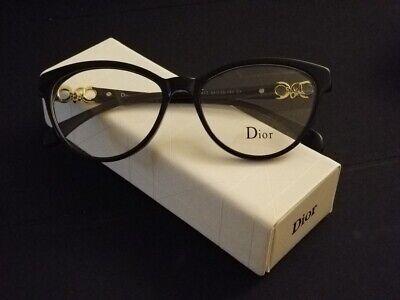 New Dior Eyeglasses Black Slightly Browline Arched Frame Eyewear (Dior Eyewear Glasses)