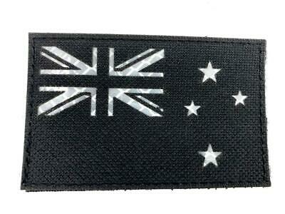 New Zealand Flag Black Reflective Tactical Embroidered Airsoft Paintball Patch
