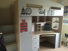 Loft Bed with desk and storage Kingston Kingborough Area Preview