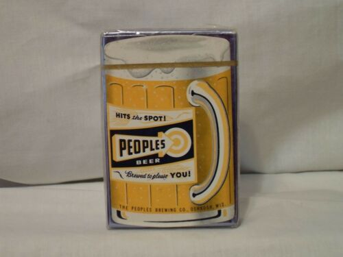 PEOPLES BEER PLAYING CARDS OSHKOSH WISCONSIN UNOPENED