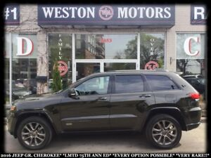 2016 Jeep Grand Cherokee LMTD 75TH ANN ED.*EVERY OPT POSSIBLE*VE