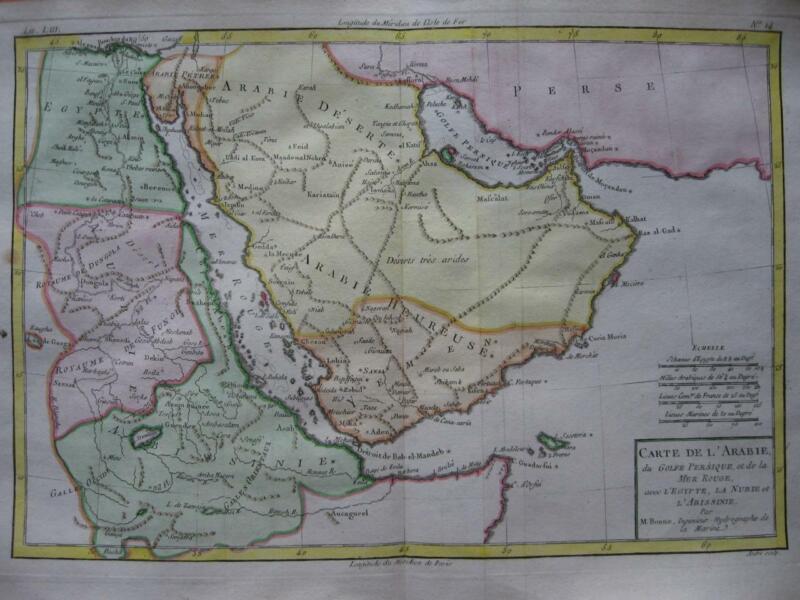 1780 - BONNE - Map ARABIA