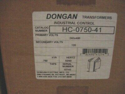 New Dongan Control Transformer Hc-0750-41 .750 Kva Single Phase