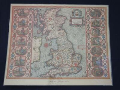 Reproduction Antique Map of the British Isles 16 x 20 inches.