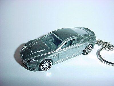 NEW 3D 2011 ASTON MARTIN DBS CUSTOM KEYCHAIN keyring key silver finish BOND 007