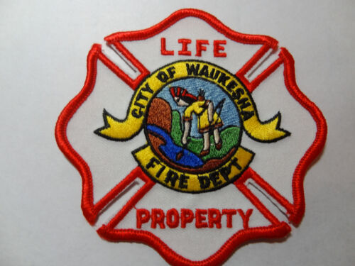 CITY OF WAUKESHA WISCONSIN FIRE DEPARTMENT PATCH.