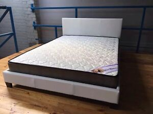 【Brand New】PU leather bed frame and spring mattress from $100 Melbourne CBD Melbourne City Preview