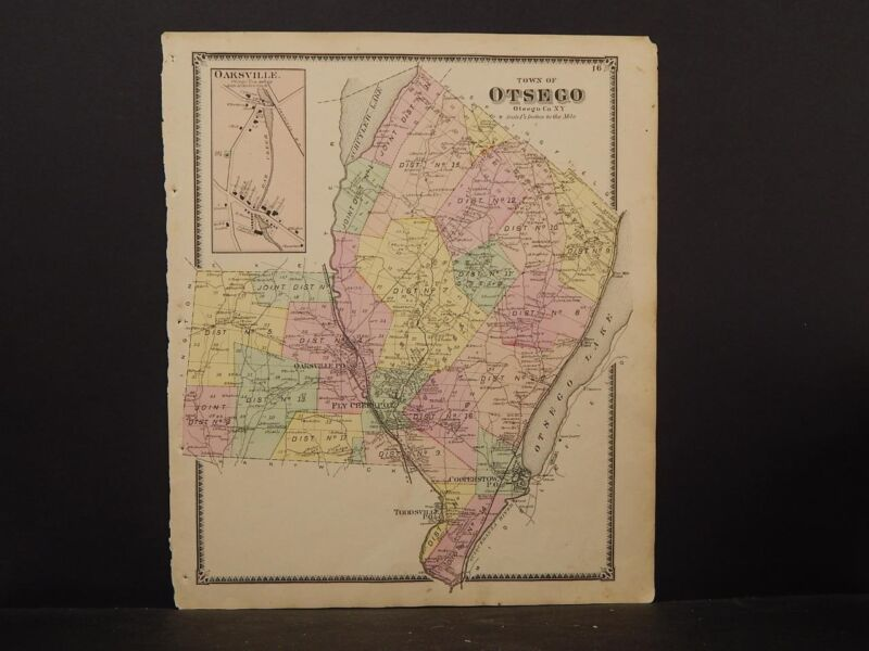 New York Otsego County Map 1868 Town of Otsego N4#82