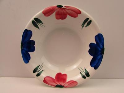 Flower Soup Bowl - JEWFLORA by Furio Vegetable Soup Bowl Blue & Pink Flowers On Edge b188