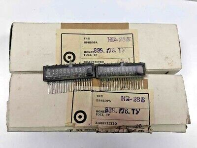 2pcs Iv-28 Vfd Digit Display Tube For Clock Russian Nos Same Data New