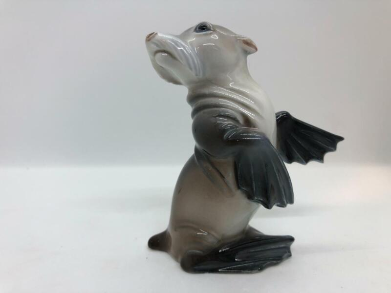 "Rosenthal #533 Baby Sea Lion Seal 3 1/2"" Tall Porcelain Figurine Germany"