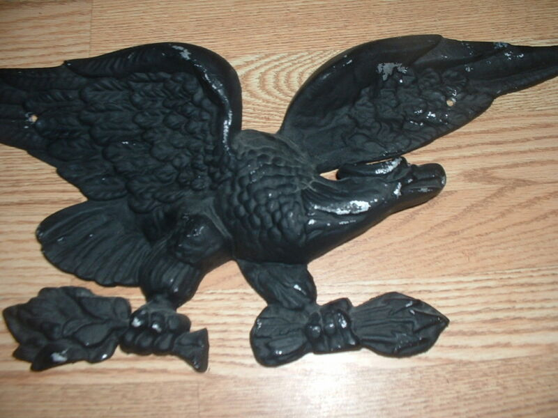 Old metal Eagle wall hanging heavy made large