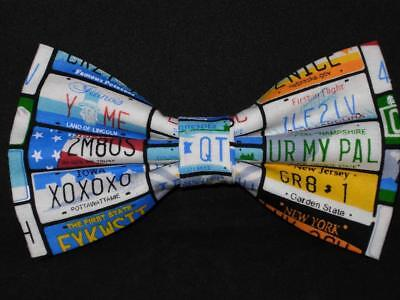 (Travel Bow tie / US State License Plates / Funny Phrases / Pre-tied Bow tie)
