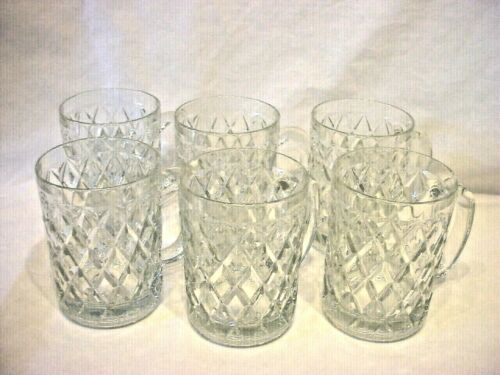Paul Sebastian Fine Crystal Coffee Mugs 12 oz. Set of 6