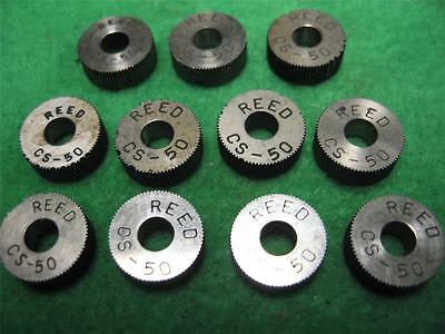 11 Reed Cs-50 Tpi Knurl Wheel Knurling Straight Cutting Teeth 12 Od X 316 Wide