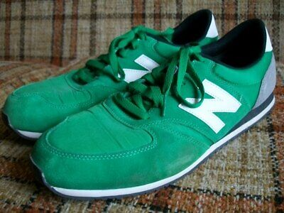 New Balance Mens 13D Green Gray Suede 420 Running Shoes U420GKW