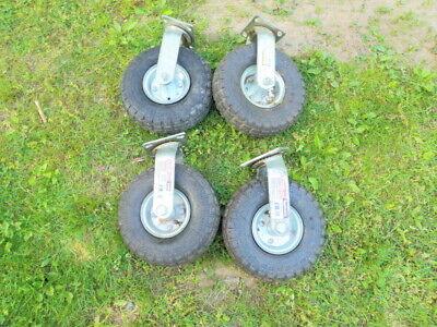 10 Pneumatic Swivel Caster Haul-master 300lb Cap Lawn And Garden