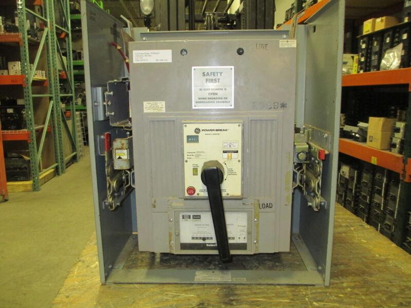Ge Powerbreak Tprr6620 2000a 3p 600v Mo Circuit Breaker In Do Carriage Used E-ok