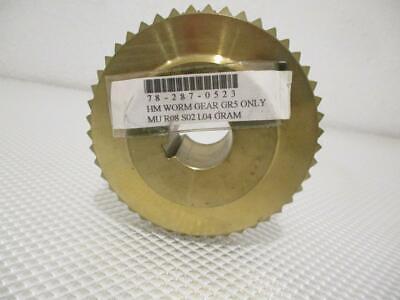 One New 4 Worm Brass Gear Gr5 78-287-0523.