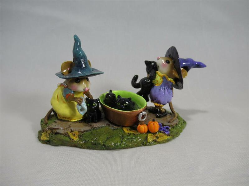 Wee Forest Folk Halloween Limited Edition Kitty Klean-Up - Darling WFF