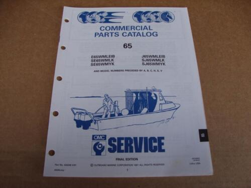1991 OMC Commercial 65 HP outboard parts catalog Johnson Evinrude 434246