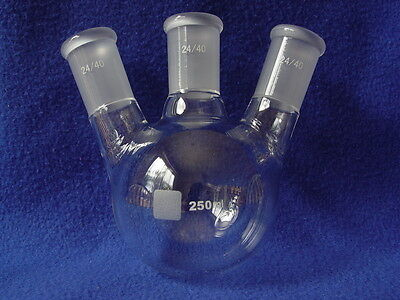 3-neck Round Bottom Flask 2440 250ml Angeled Heavy Duty Premium Product