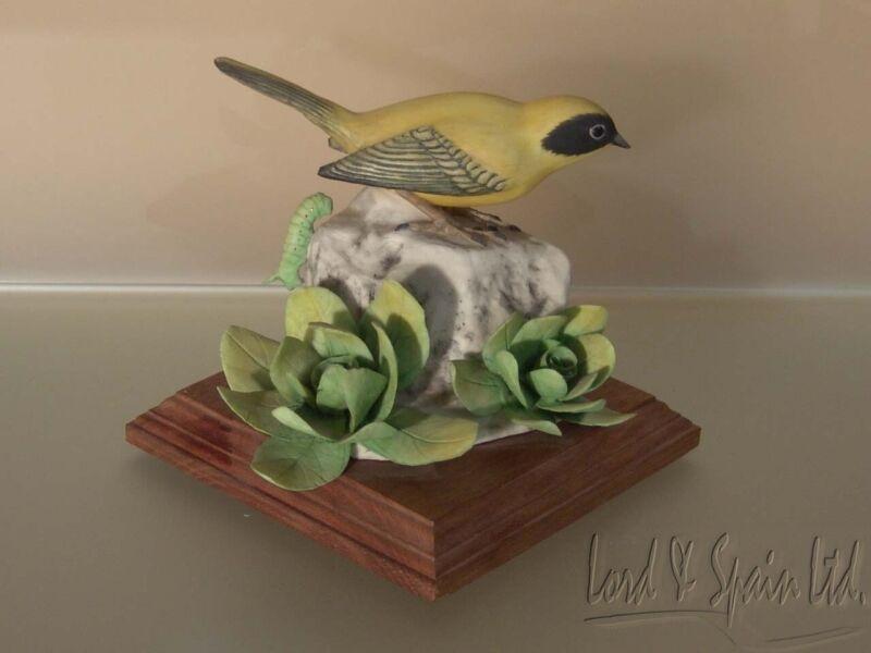 M.E. Moussalli Matte YELLOW WARBLER Porcelain Bird Sculpture/Figurine-#223