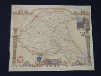 Reproduction Antique Map East Riding of Yorkshire 16 x 20 inches.