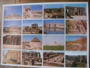 ANCIENNE PLANCHE SCOLAIRE ECOLE ARNAUD 1964 MONUMENTS DE L'ANTIQUITE EGYPTE - France - Type: Affiche scolaire Epoque: Années 60 Thme: Histoire, Politique - France