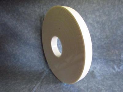 Double Side White Rubber Foam Tape 18 Thick 1 X 36 Yards Shelf