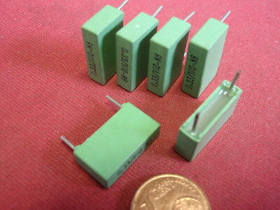 Restbestände 6 x MKT-Kondensator axial 0,22µF// 220nF 400V 18 x 36mm neu