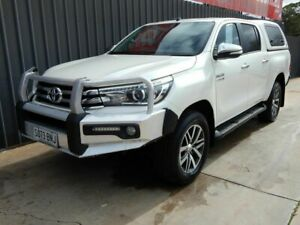 2017 Toyota Hilux GUN126R SR5 Double Cab White 6 Speed Sports Automatic Utility Blair Athol Port Adelaide Area Preview