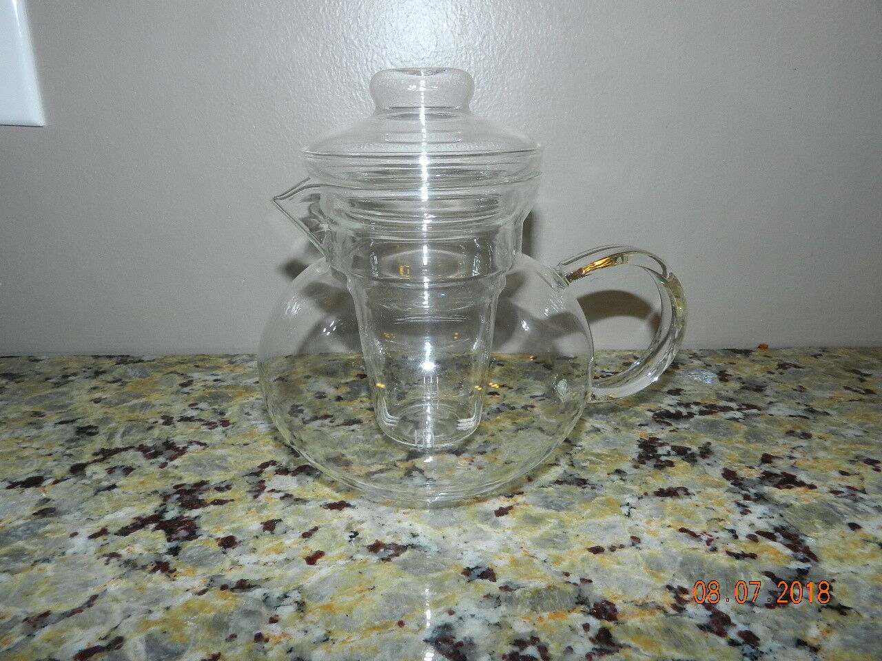 Primula 3 Piece Set 40oz./ 5 Cups Glass Tea Pot
