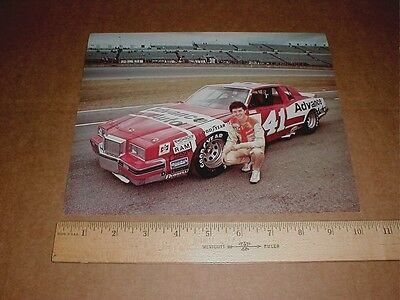 Ronnie Thomas 1983 Pontiac Grand Prix Vintage Advance Auto Parts Racing Handout